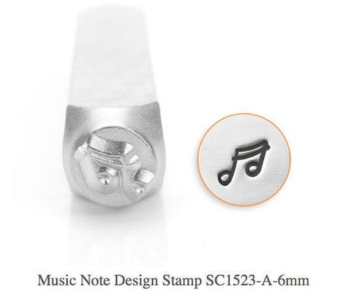 Music Note Design Stamp, 6MM