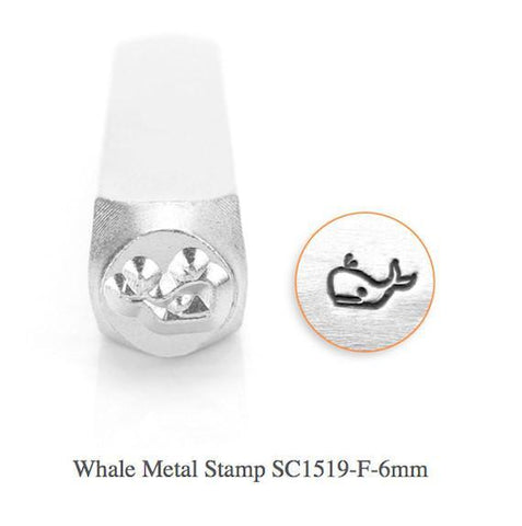 Whale Design Stamp, 6MM