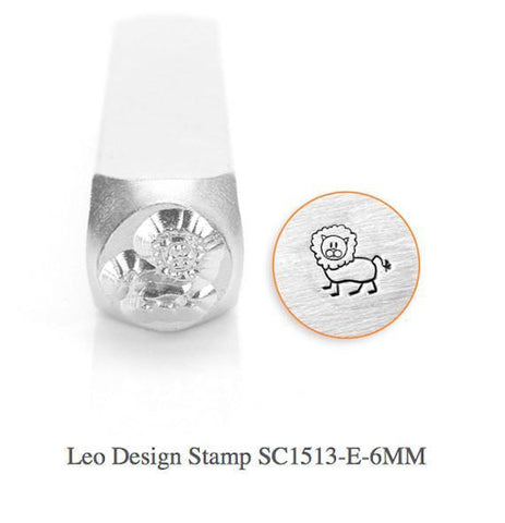 Leo Lion Design Stamp, 6MM