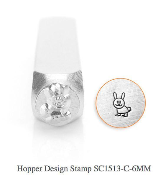 Hopper Bunny Design Stamp, SC1513-C-6MM