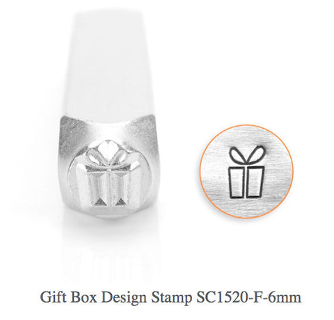 Gift Box Design Stamp, 6MM