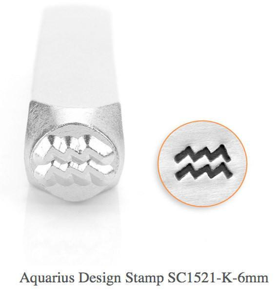 Aquarius Design Stamp, 6MM