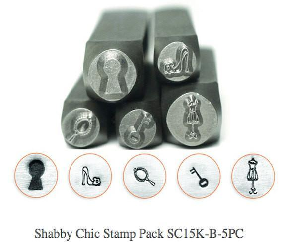 Shabby Chic Design Stamp Pack - 5 pc., SC15K-B-5PC