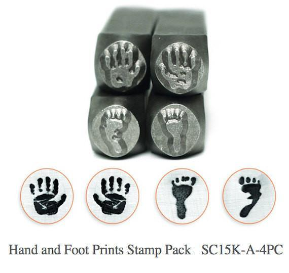Hand and Foot Prints Pack - 4 pc., SC15K-A-5PC