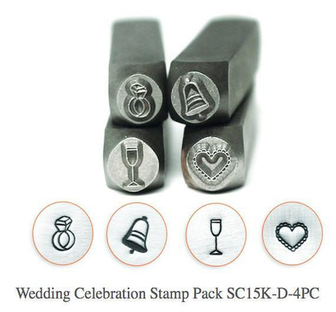 Wedding Celebration Stamp Pack, 4 Pc., 6MM