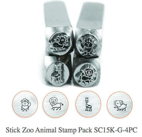 Stick Zoo Animal Pack Design Stamp Pack - 4 pc.