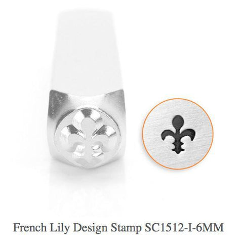 French Lily Design Stamp, 6MM