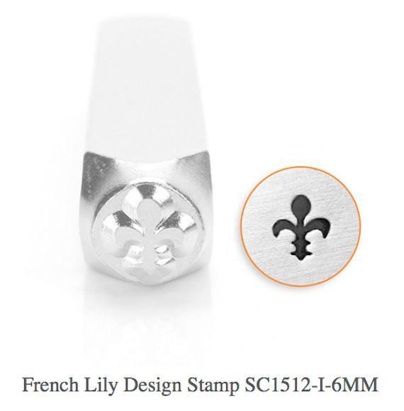 French Lily Design Stamp, SC1512-I-6MM