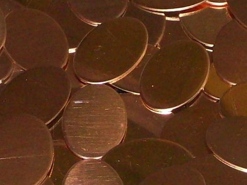 Bronze Ovals Stamping Blanks