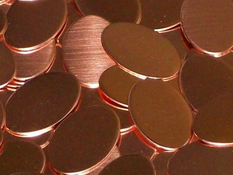 Copper Ovals Stamping Blanks