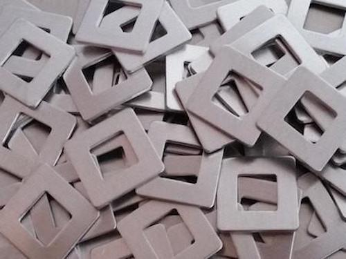 Pewter Square Washer Stamping Blanks