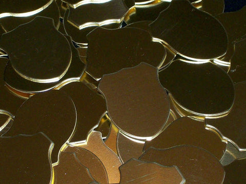 Brass Shields Stamping Blanks