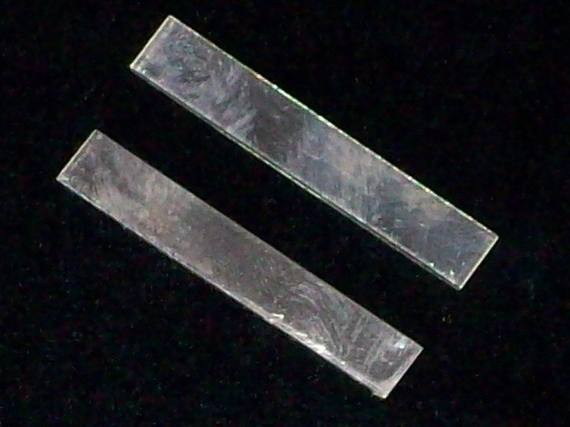 Sterling Silver Tags Stamping Blanks R1, 3/8