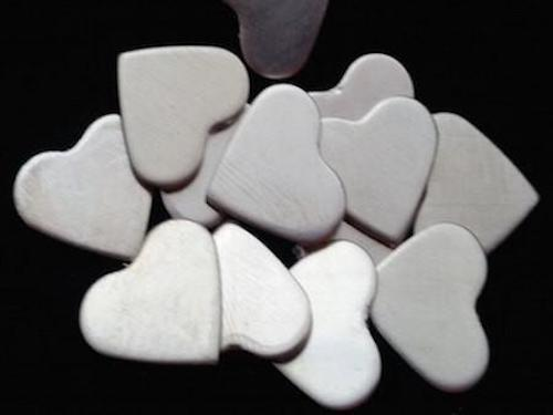 Sterling Silver Hearts Stamping Blanks