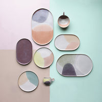 Assiettes ronde menthe / nude - Collection Gallery - HKLiving