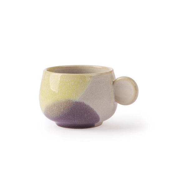 Tasse à café jaune / lilas - Collection Gallery - HKLiving