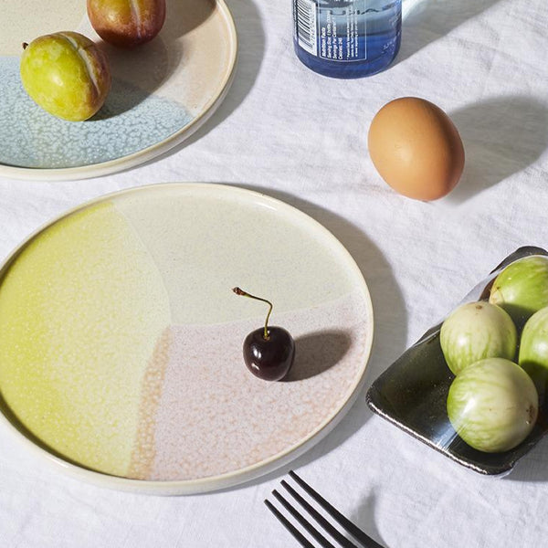 Assiettes ronde rose / jaune - Collection Gallery - HKLiving