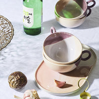Tasse à thé nude / lilas - Collection Gallery - HKLiving