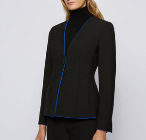 Jucita Colarless Fitted Jacket