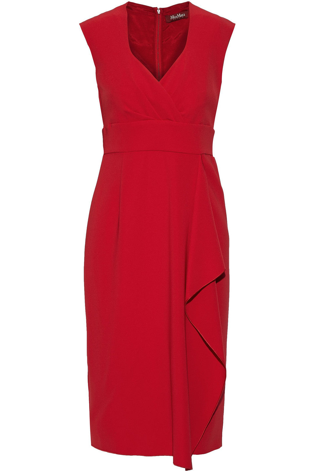 Elvy Red Crepe Dress