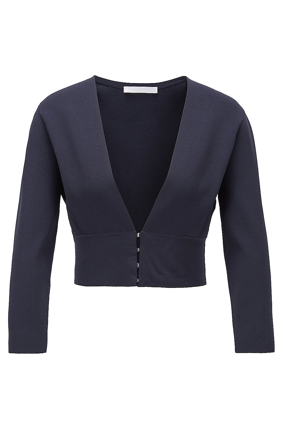 Flama Knitted Cropped Navy Jacket