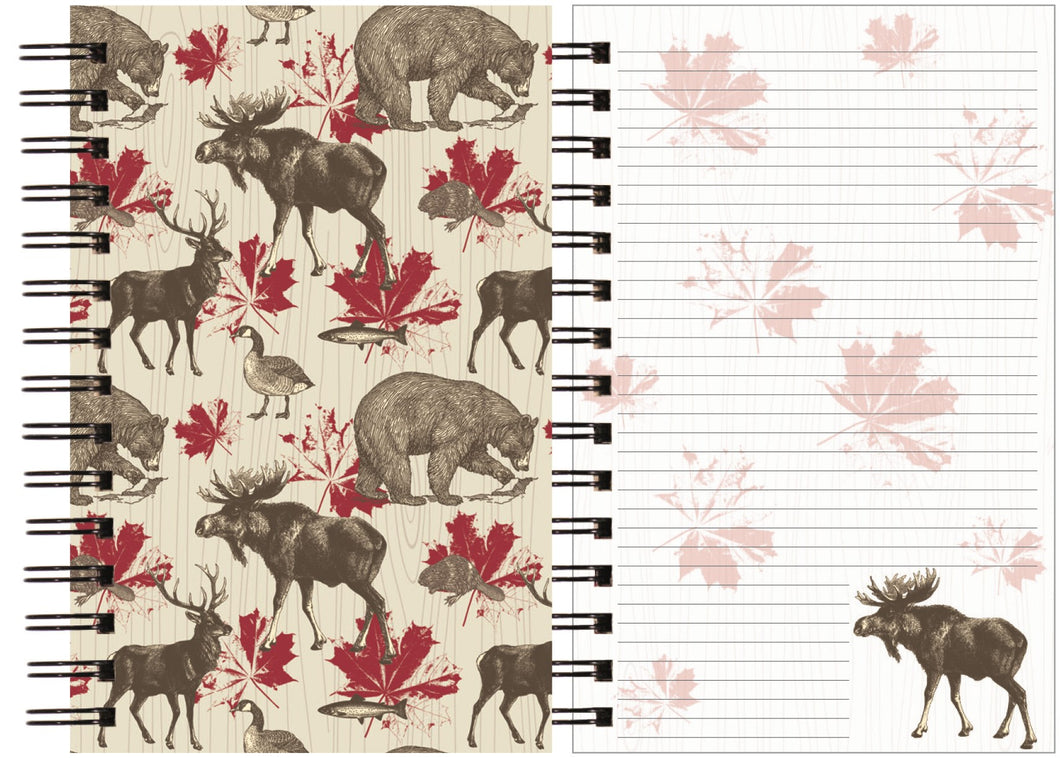 Cahier de notes, Animaux canadiens