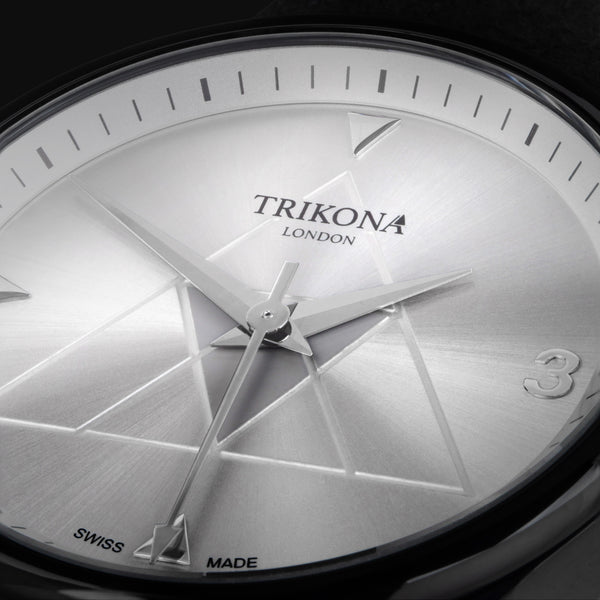 Signature Collection by Trikona London, is a Swiss Made collection of watches.  With Swiss quartz movement by Ronda, in stainless steel with Alcantara straps.