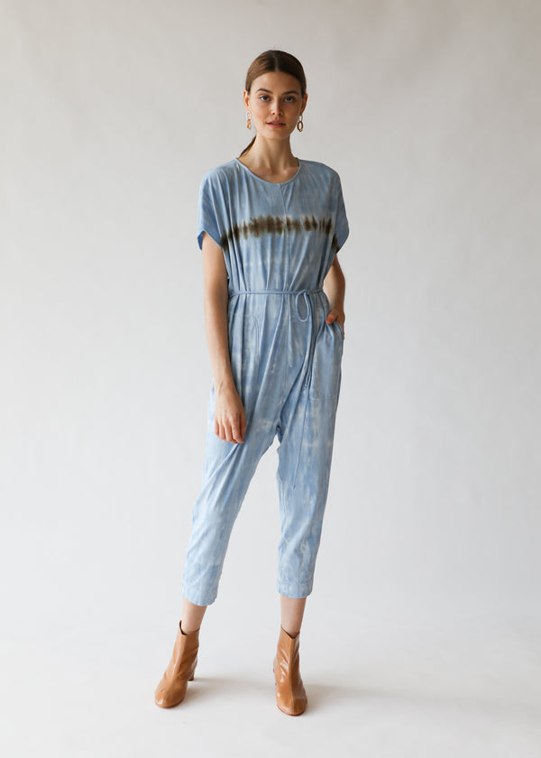 Raquel Allegra Jumpsuit in Blue Stripe Jersey