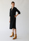 Raquel Allegra Tiered Peasant Dress in Black