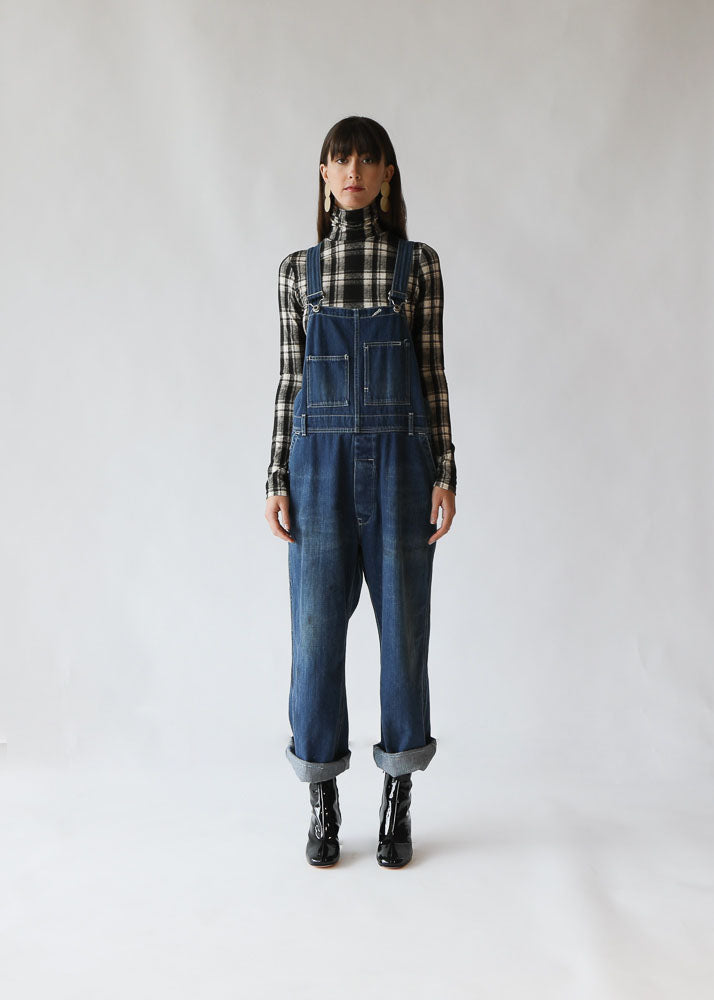 Denim Overall in Dark Wash