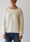 Crew in Rib Cashmere/Cream