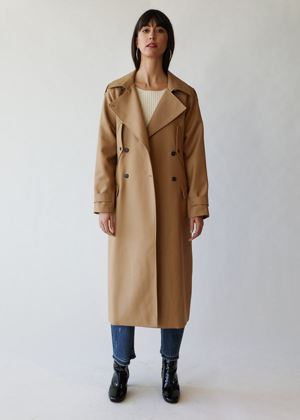 Rina Coat in Camel Checks