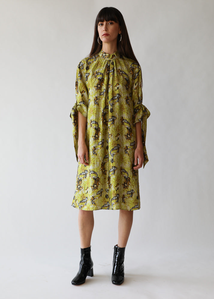 Hazel Dress in Lime Flower