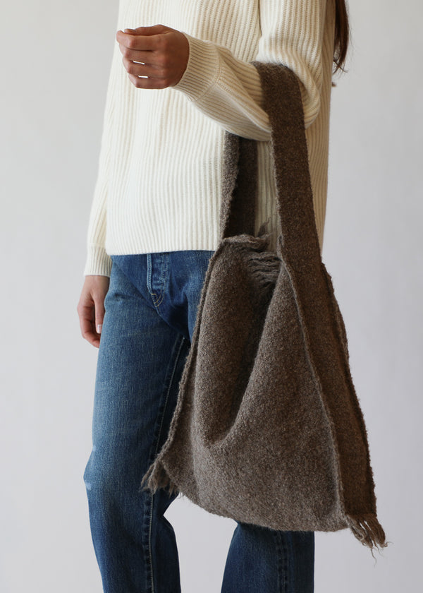 Handwoven Bindle Tote in Ash
