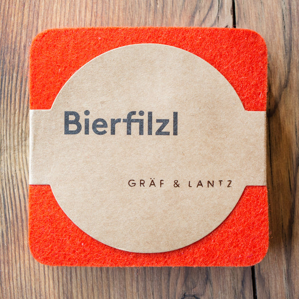 Graf & Lantz Felt Coaster Orange