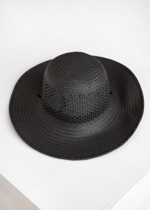 Vented Koh Hat wDrawstring in Black