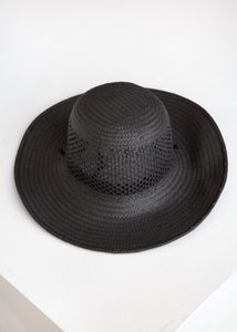 Vented Koh Hat wDrawstring in Black - SOLD OUT