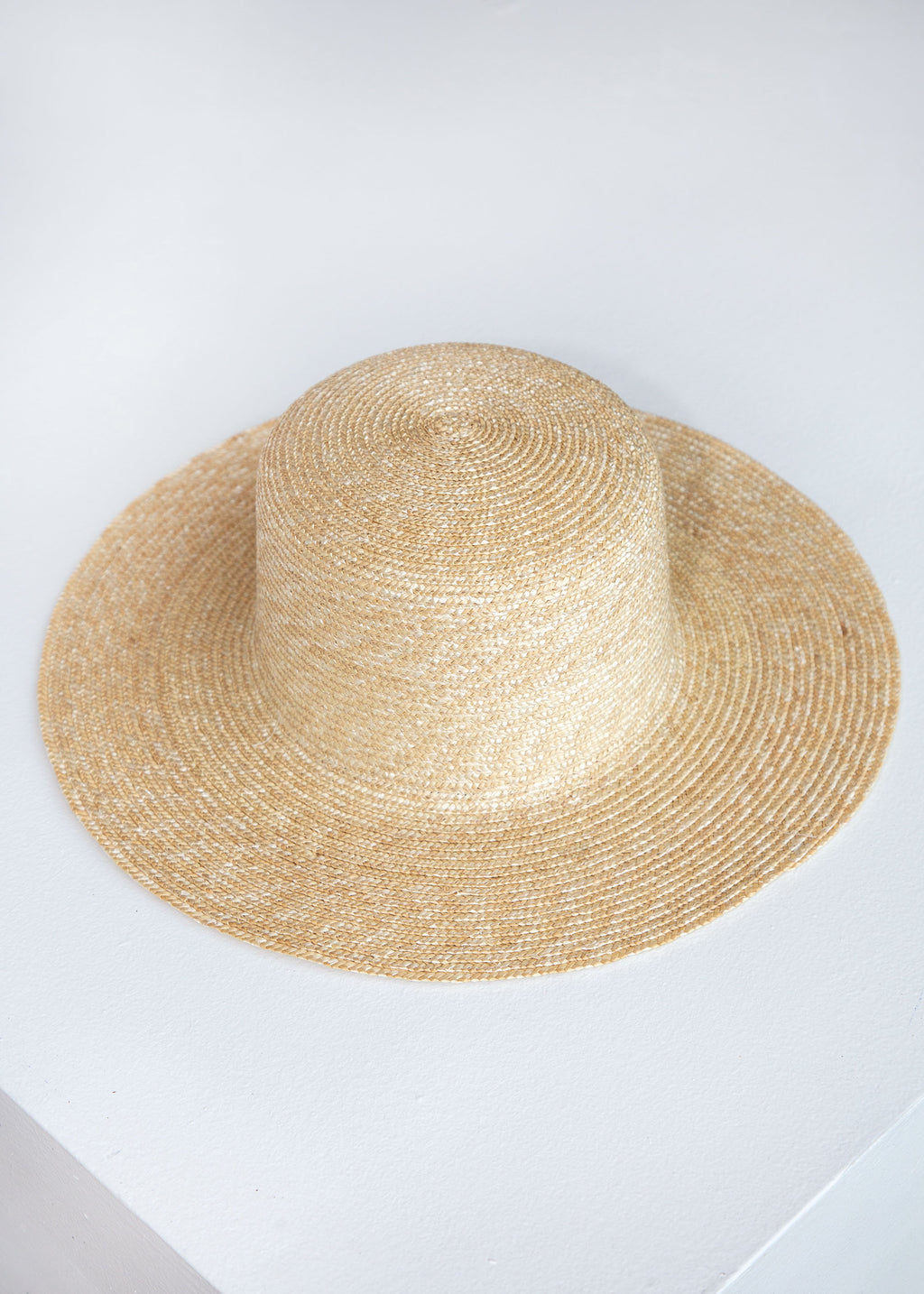 Medium Brim Flat Top Hat wShade in Natural - SOLD OUT