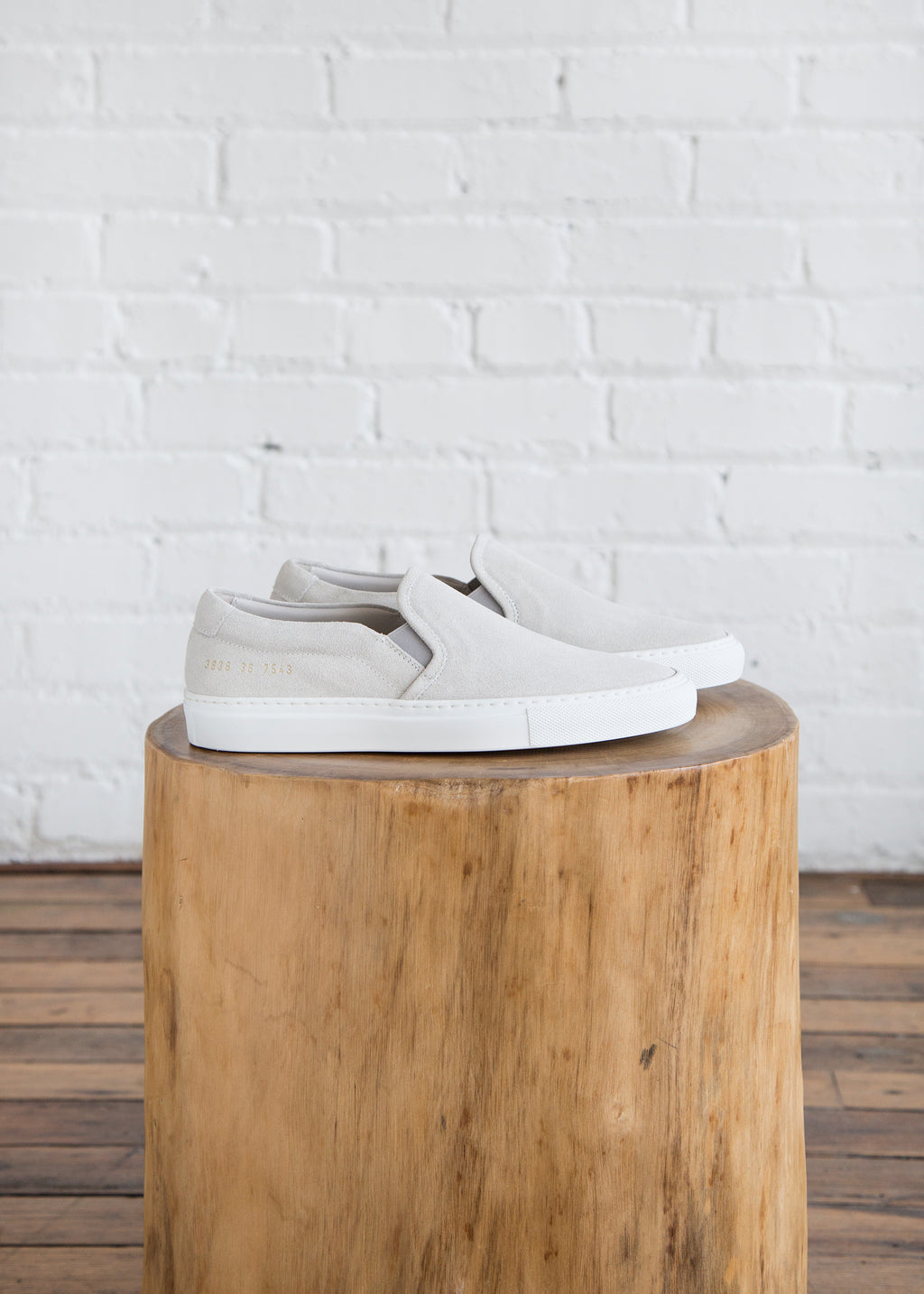 Women by Common Projects Slip On Suede Grey