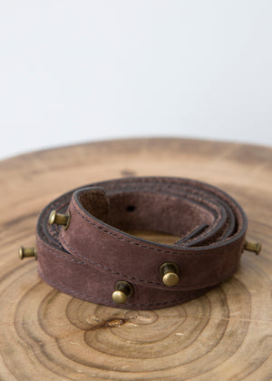 Ulla Johnson Skinny Belt Brown Leather