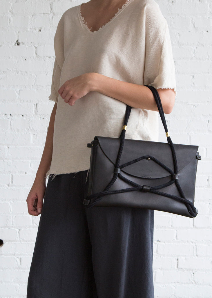 Eatable of Many Orders Eiffel Tower Bag Black