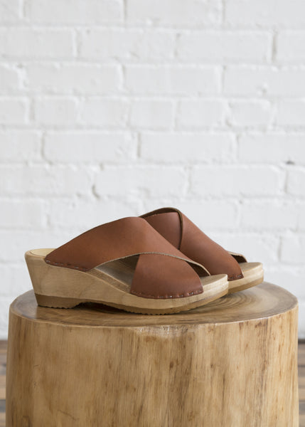No.6 Frida Mid Wedge Clog Maple