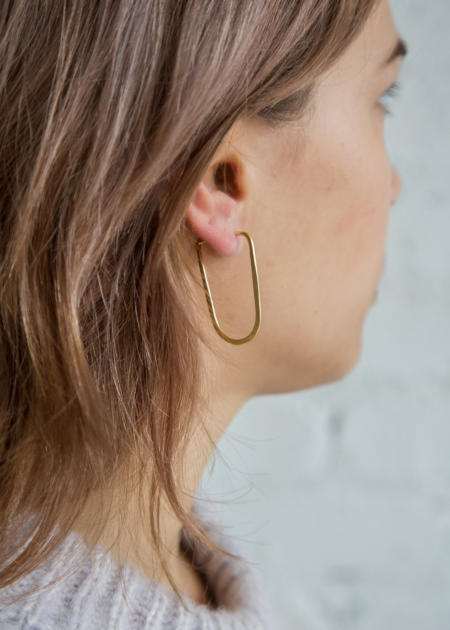 Takara Oval Earring Small Gold Plated - SOLD OUT