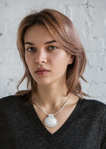 Carina Necklace in White Mountain Jade