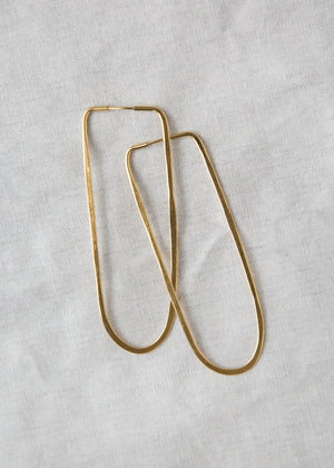 Takara Oval Hoop Earring Gold Plated Large - SOLD OUT