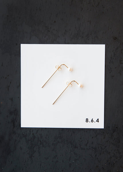 8.6.4 EA-P-01 Pearl Earrings Gold
