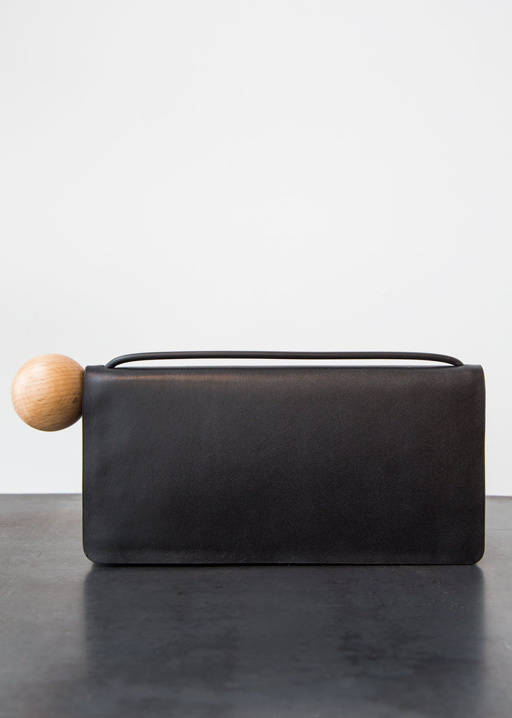 Building Block Book Wallet Smooth Black Leather