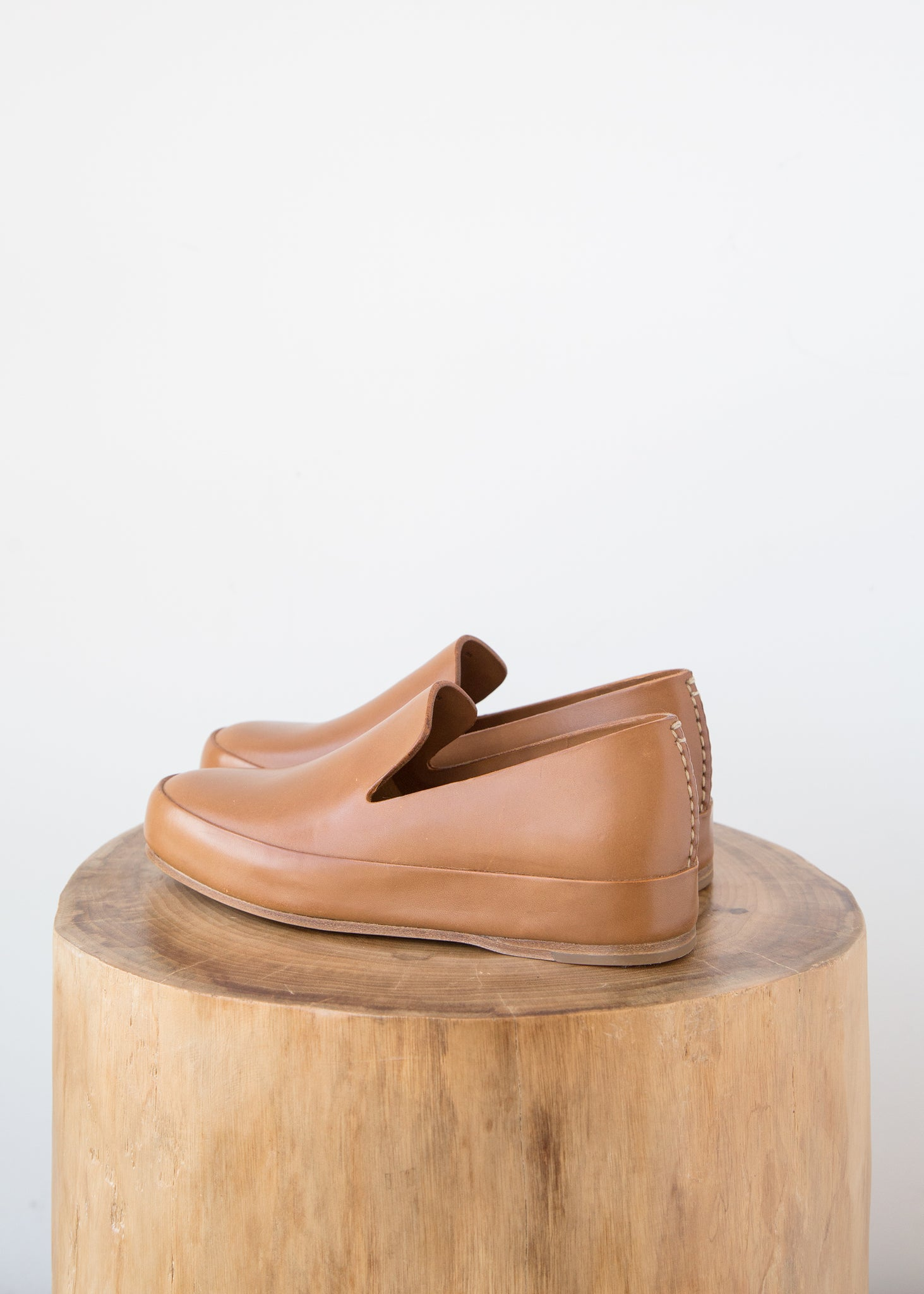 Hand Sewn Slipper in Tan - SOLD OUT