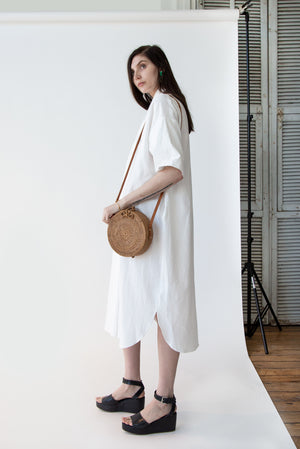Rose Bow Bag in Rattan - SOLD OUT