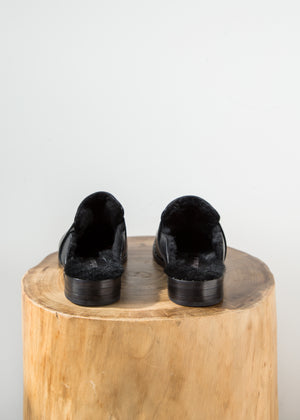 Freda Salvador Keen Mule Shearling Black Calf - SOLD OUT